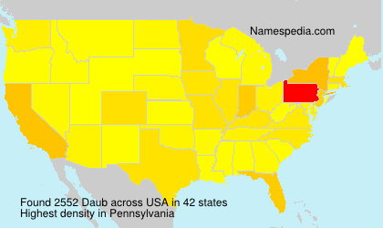 Surname Daub in USA