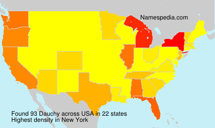 Surname Dauchy in USA