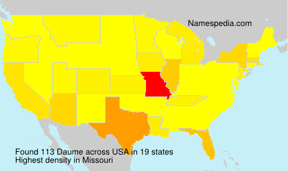 Surname Daume in USA