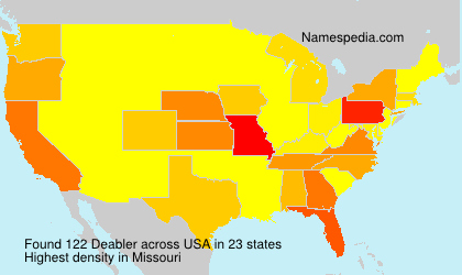 Surname Deabler in USA