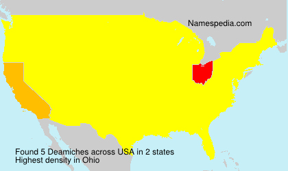 Surname Deamiches in USA