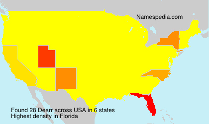 Surname Dearr in USA