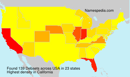 Surname Debaets in USA