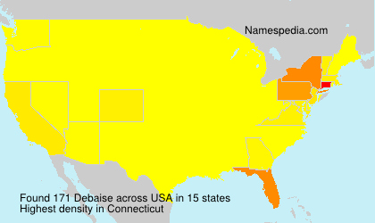 Surname Debaise in USA