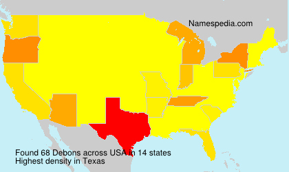 Surname Debons in USA