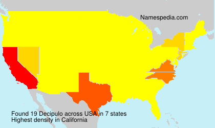 Surname Decipulo in USA