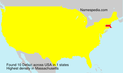 Surname Defazi in USA