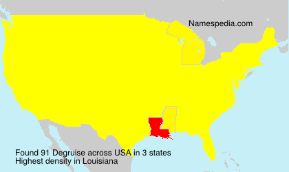 Surname Degruise in USA