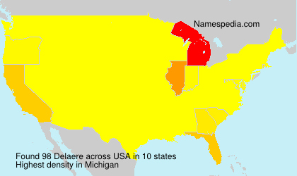 Surname Delaere in USA