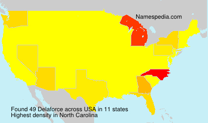 Surname Delaforce in USA