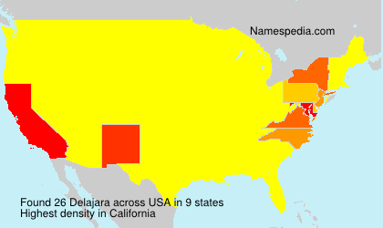 Surname Delajara in USA