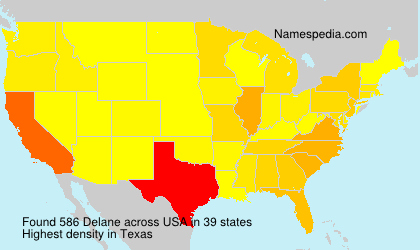Surname Delane in USA