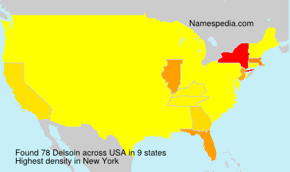 Surname Delsoin in USA