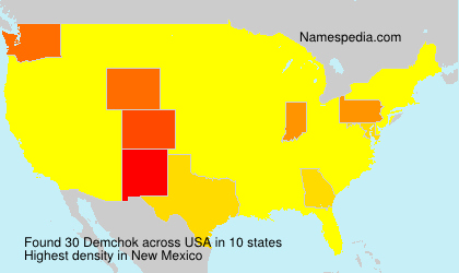 Surname Demchok in USA