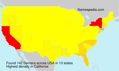Surname Demera in USA