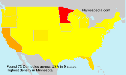Surname Demeules in USA