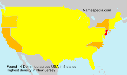 Surname Demitriou in USA
