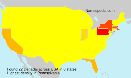 Surname Denadai in USA