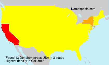 Surname Deneher in USA