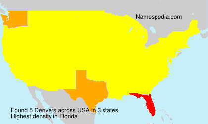 Surname Denvers in USA