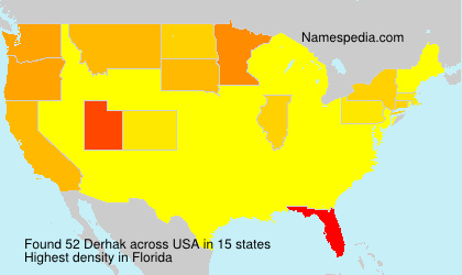 Surname Derhak in USA