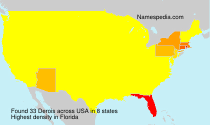 Surname Derois in USA