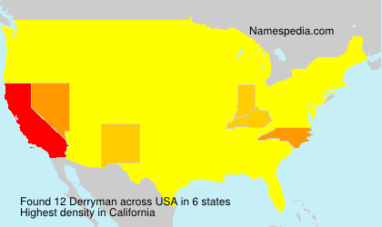 Surname Derryman in USA