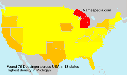 Surname Dessinger in USA