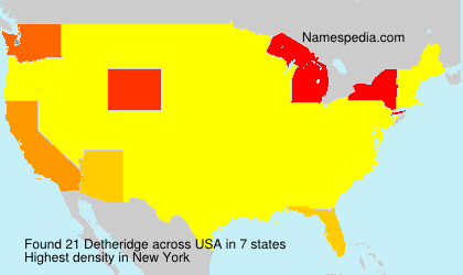 Surname Detheridge in USA