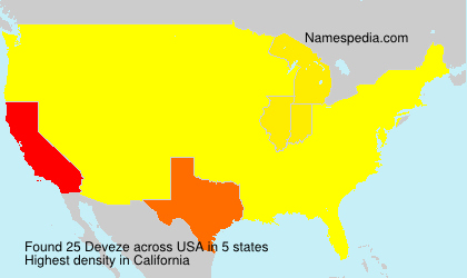 Surname Deveze in USA