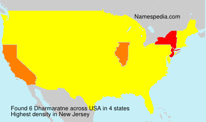 Surname Dharmaratne in USA