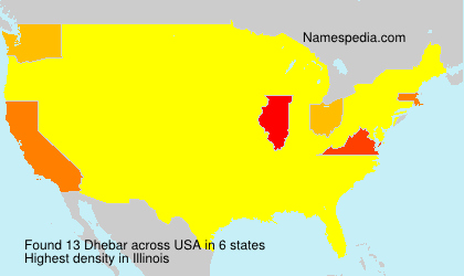 Surname Dhebar in USA