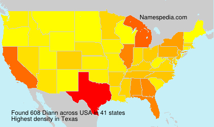 Surname Diann in USA