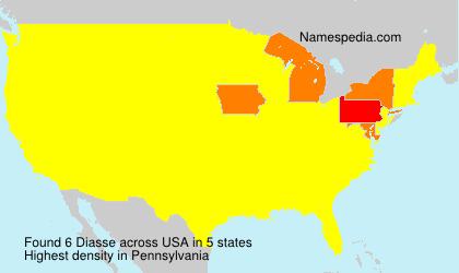 Surname Diasse in USA