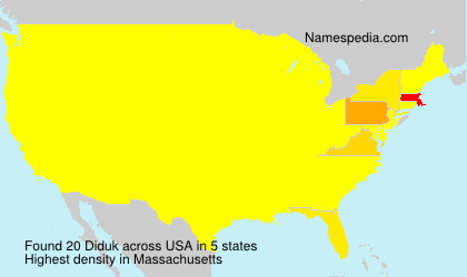 Surname Diduk in USA