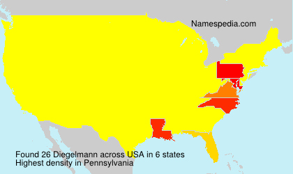 Surname Diegelmann in USA