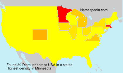 Surname Dierauer in USA