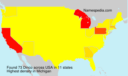 Surname Dinco in USA