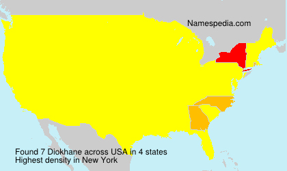Surname Diokhane in USA