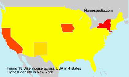 Surname Disenhouse in USA