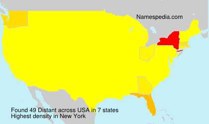 Surname Distant in USA