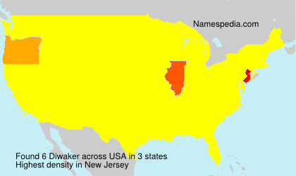 Surname Diwaker in USA
