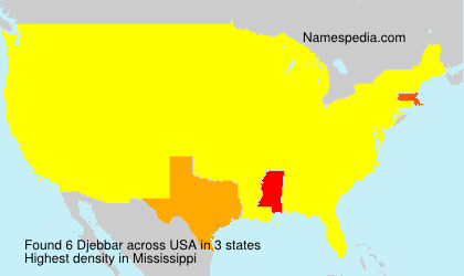 Surname Djebbar in USA