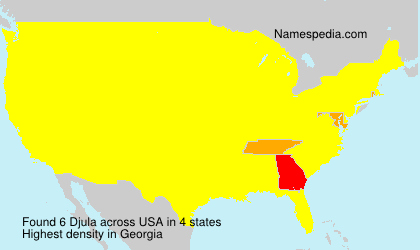 Surname Djula in USA