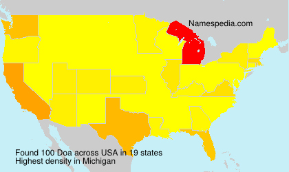 Surname Doa in USA