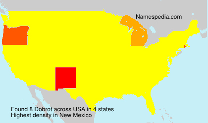 Surname Dobrot in USA