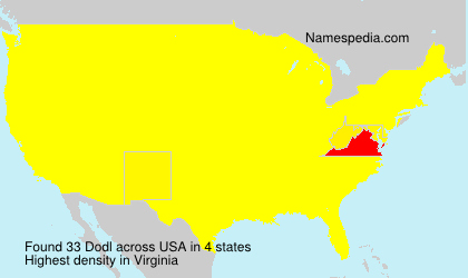 Surname Dodl in USA