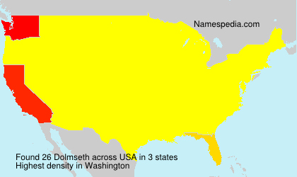Surname Dolmseth in USA
