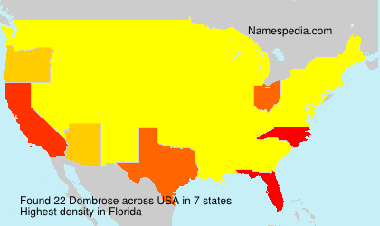 Surname Dombrose in USA