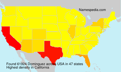 Surname Dominguez in USA